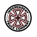 "Independent White Cross Logo 3"" Sticker"