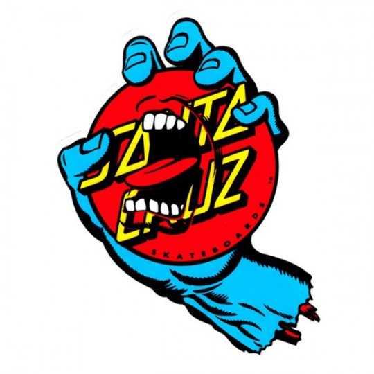 "Santa Cruz Screaming Hand Dot 6"" Sticker"