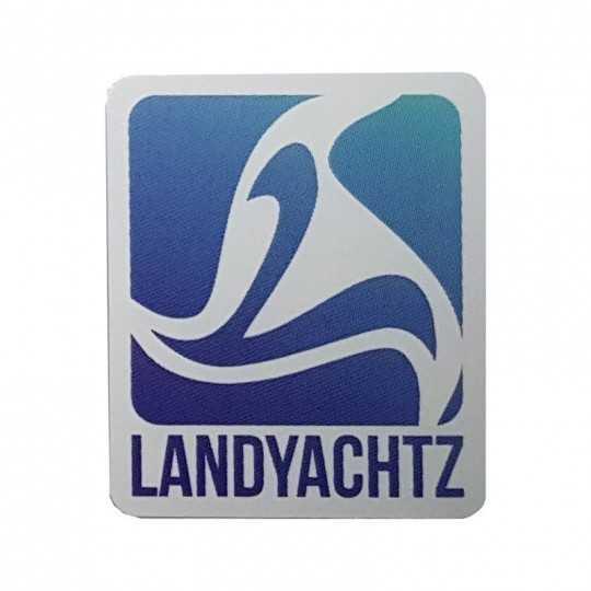 """Landyachtz """"Square Logo"""" Bleu Autocollant"""