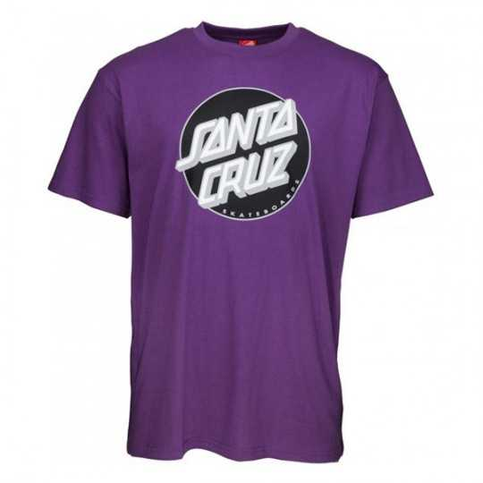 "Santa Cruz ""Classic Dot"" Purple Tee Shirt"