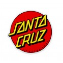 "Santa Cruz Classic Dot 6"" Red Sticker"
