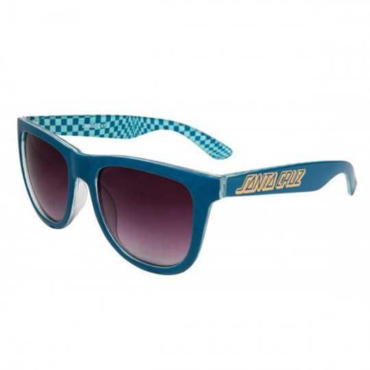 Santa Cruz Fish Eye Ink Blue Checker Sunglasses