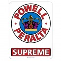 "Powell Peralta Supreme 6"" Sticker"