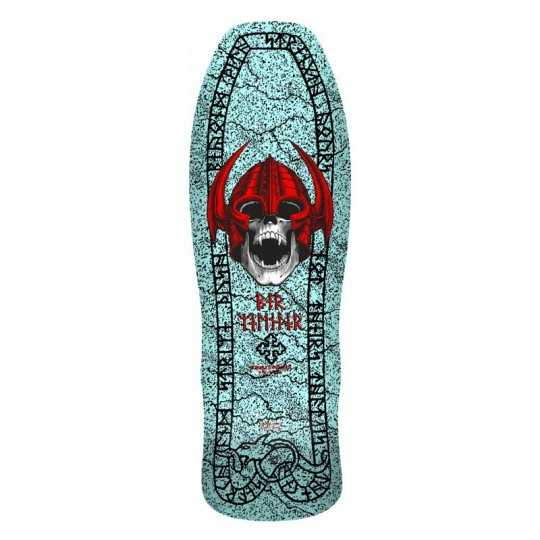 "Powell Peralta Welinder Nordic Skull 9.625"" Light Blue Skateboard Deck"