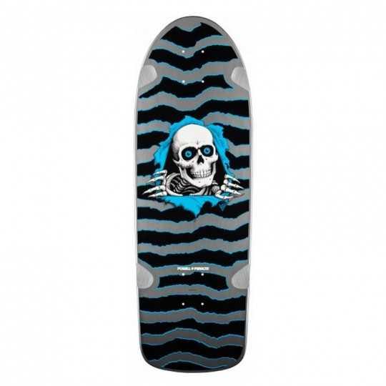 "Powell Peralta OG Ripper 10"" Silver Skateboard Deck"