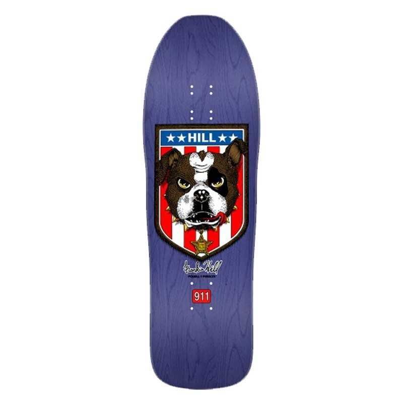"Powell Peralta Hill Bulldog Purple 10"" Plateau Skateboard"