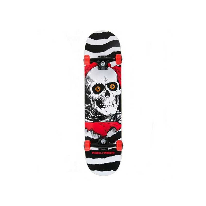 "Powell Peralta Ripper One Off 8"" White Complete skateboard"