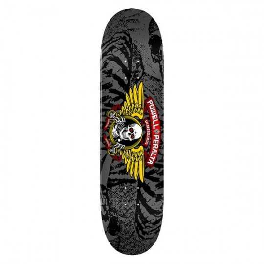"Powell Peralta Winged Ripper PP 8"" Silver Plateau Skateboard"