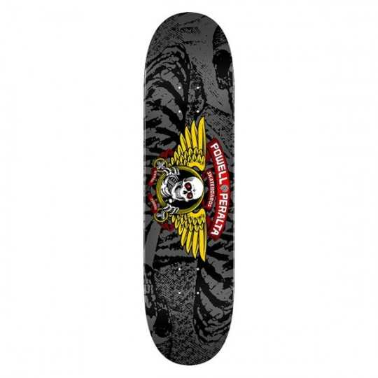 "Powell Peralta Winged Ripper PP 8"" Silver Skateboard Deck"