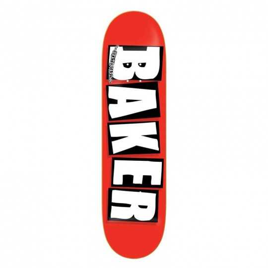 "Baker Brand Logo 8"" Red/white Skateboard Deck"