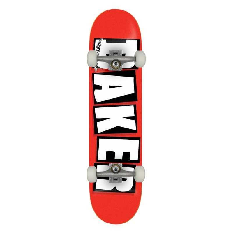 """Baker Brand Logo 8"""" Red/white Complete Skateboard"""