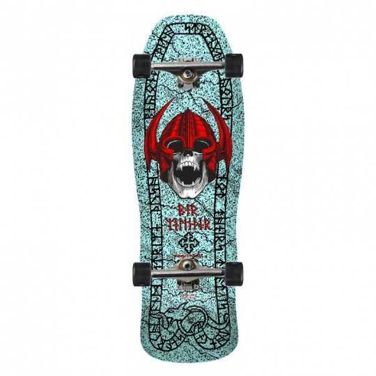"Powell Peralta Welinder Nordic Skull 9.625"" Light Blue Complete Skateboard"