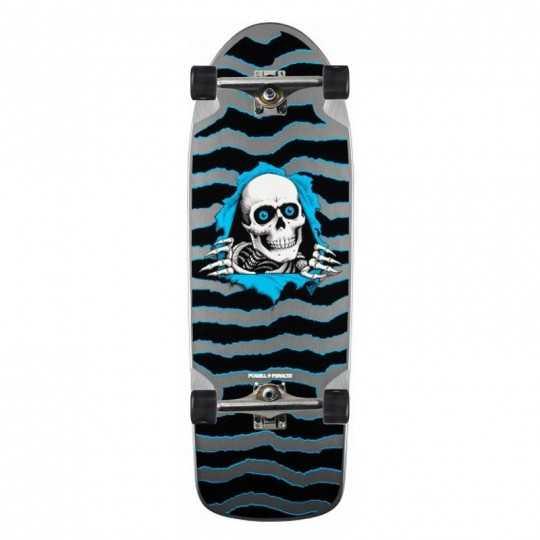 """Powell Peralta OG Ripper 10"""" Silver Complete Skateboard"""