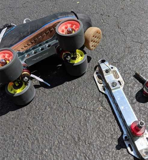 Platine roller Quad & Roller Derby: Roll Line, Sure Grip,...