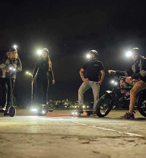 Skateboard and multi sports lightings