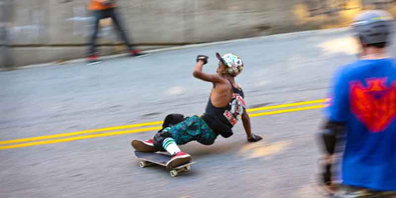 Skateboard tech slide